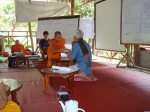 Monk development workshop at Nakoun Noi temple