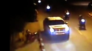 CCTV footage showed Mr Sombath's vehicle on a main road